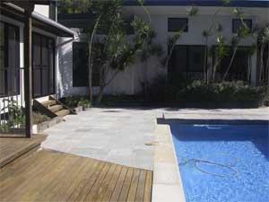 repaved pool area