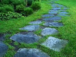 stone and grass path